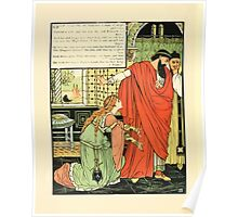 Cinderella Picture Book containing Cinderella, Puss in Boots, and Valentine and Orson Illustrated by Walter Crane 1911 42 - Emperor and Man of Might Poster