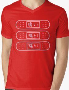 Triple band aids Mens V-Neck T-Shirt