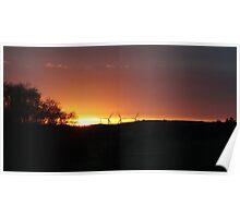 Turbine Sunset  Poster