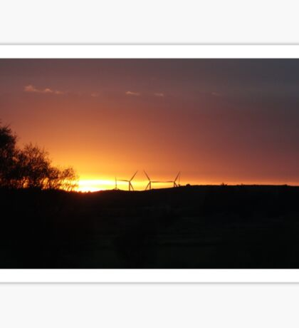 Turbine Sunset  Sticker