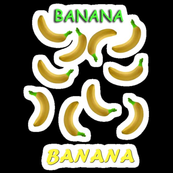 Banana Stickers! by ChaosSeer
