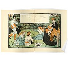 The Buckle My Shoe Picture Book by Walter Crane 1910 68 - Who Taught My Infant Lips to Pray Poster