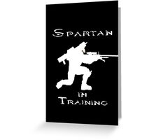 Spartan In Training Greeting Card