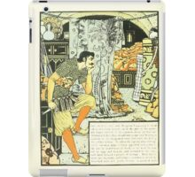 The Forty Thieves by Walter Crane 1898 18 - Then Went To Bed iPad Case/Skin