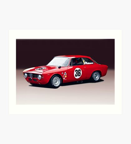 1965 Alpha Romeo GTA Art Print