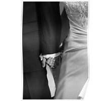Holding hands in the ceremony. Poster
