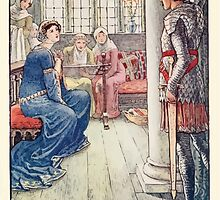 King Arthur's Knights - The Tale Retold for Boys and Girls by Sir Thomas Malory, Illustrated by Walter Crane 251 - Sir Awen Greets the Lady of the Fountain by wetdryvac