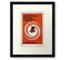 Theatrical poster of Vertigo. Art by Saul Bass. Framed Print