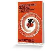 Theatrical poster of Vertigo. Art by Saul Bass. Greeting Card