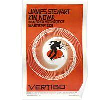 Theatrical poster of Vertigo. Art by Saul Bass. Poster