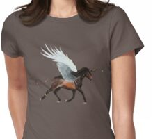 Feather Wing Charger Womens Fitted T-Shirt