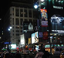 At Night Outside of Madison Square Garden by LenaHunt