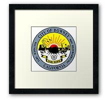 Seal of Downey Framed Print