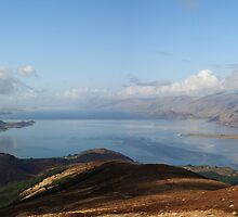 Loch Linnhe and Corran from Beinn na Gucaig. by John Cameron