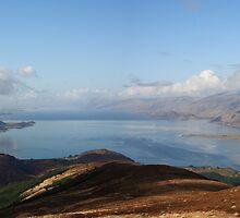 Loch Linnhe and Corran from Beinn na Gucaig. by John Cameron