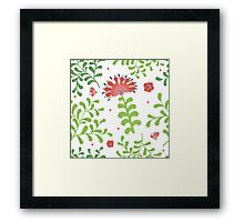 Elegance Seamless pattern with flowers, vector floral illustration in vintage style Framed Print