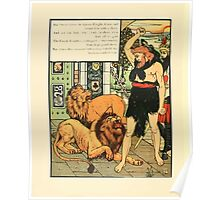 Cinderella Picture Book containing Cinderella, Puss in Boots, and Valentine and Orson Illustrated by Walter Crane 1911 54 - The Green Knight Chained Poster