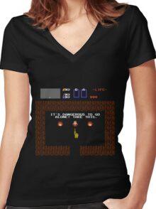 Legend of Zelda: Take this! (Full) Women's Fitted V-Neck T-Shirt