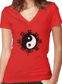 Yin Yang Women's Fitted V-Neck T-Shirt