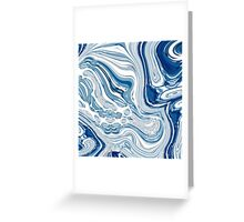 modern chic nautical beach blue watercolor ocean waves Greeting Card
