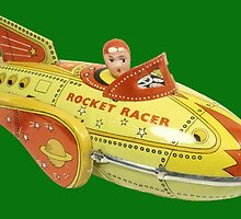 rocket racer - card by Vana Shipton