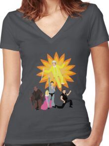 Dayman, Ahhhahhhhahhhhh! Women's Fitted V-Neck T-Shirt