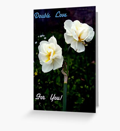 Double Love Greeting Card