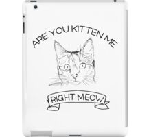 Are you kitten me right meow iPad Case/Skin