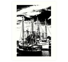 """Tarpon Springs Docks"" Art Print"