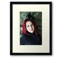 Sara a location shoot Framed Print