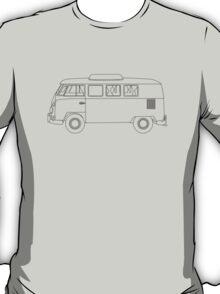 Wireframe VW Camper Van T-Shirt