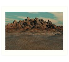 Cracked Land Art Print
