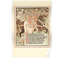Queen Summer, or, The Tourney of the Lilly and the Rose by Walter Crane 1891 26 - Rose favoured knights of maidens true Poster