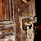 Door and lock or Old and New.  by Karen  Betts