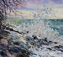 West Coast Early Evening Winter Sea by TerrillWelch