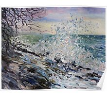 West Coast Early Evening Winter Sea Poster