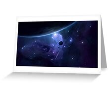 Space - Blue Greeting Card