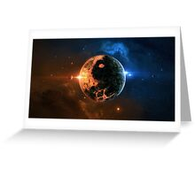 Planet - Explode Greeting Card