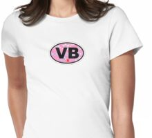 Virginia Beach. Womens Fitted T-Shirt