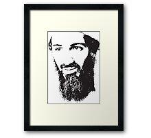 Osama Bin Laden, Silhouette Framed Print