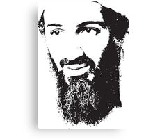 Osama Bin Laden, Silhouette Canvas Print