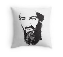 Osama Bin Laden, Silhouette Throw Pillow