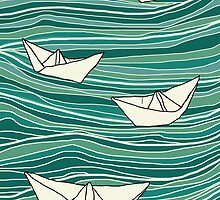 Paper Sea-Blue by harrietchariot
