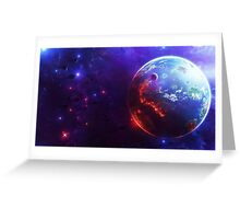 Planet - On Fire  Greeting Card