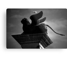 Venice, The Lion and the Hitchhiker Metal Print