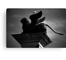 Venice, The Lion and the Hitchhiker Canvas Print