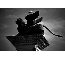 Venice, The Lion and the Hitchhiker Photographic Print