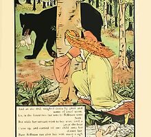 Cinderella Picture Book containing Cinderella, Puss in Boots, and Valentine and Orson Illustrated by Walter Crane 1911 43 - Bellisant, the Twins and the Bear by wetdryvac