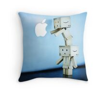 its easier to pick the bigest apple on the tallest branch with a friend... Throw Pillow