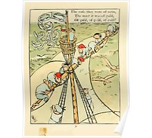 Fairy ship 18xx Walter Crane 11 - The Sails were of Satin, The Mast it was of Gold Poster